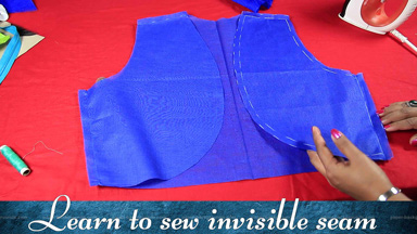 Bolero jacket with invisible seam