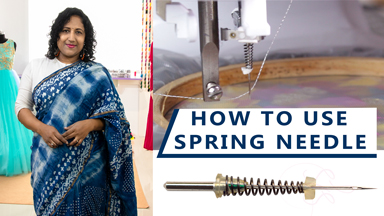 How to use Embroidery Spring Needle & water soluble stabilizer