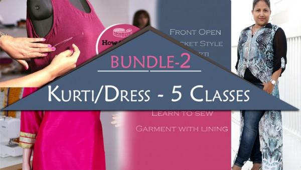 Bundle 2 - Kurti/Dress Course - 5 Classes