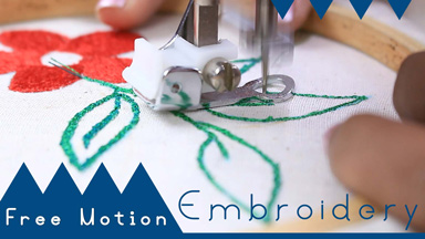 How to use Free Motion Embroidery Foot