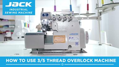 Jack 5 thread Industrial Overlock machine