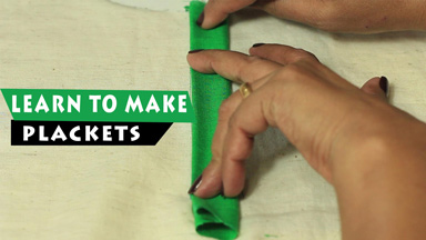 How to make plackets -  2 variations