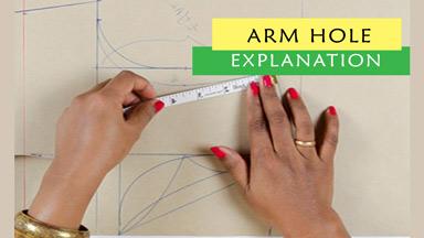 Body sloper (armhole explanation)