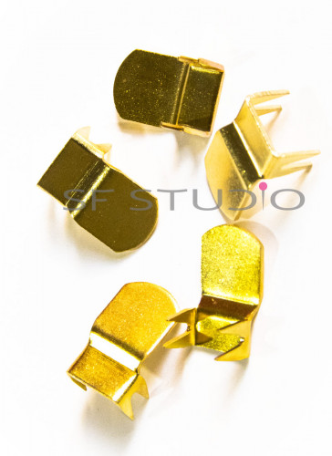 5 sets Gold- Metal Hook & eye for Pants and Skirts