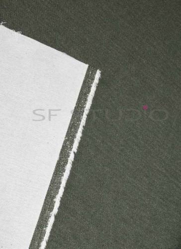 51 Inches Width Lycra Olive Green woven Denim fabric [Unwashed]