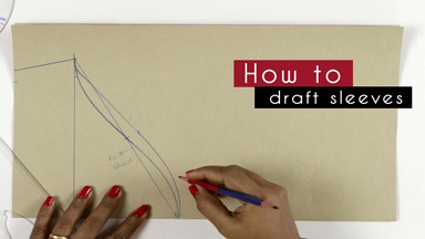 How to draft sleeves pattern