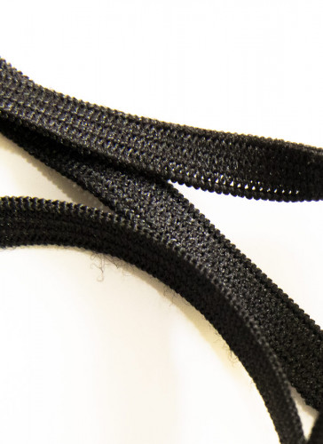 Elastic for Sewing Craft 6mm/super stretch/Black- 25 mtrs