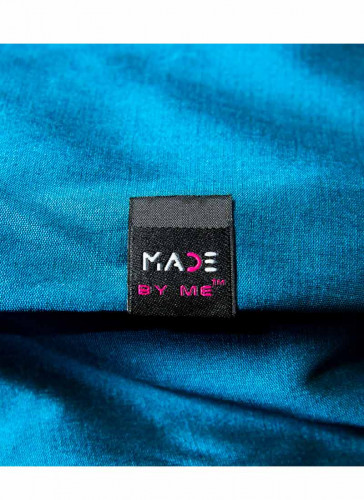 Made By Me™ - Flag woven Label Black - 5nos