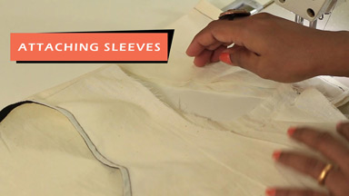 Sleeve attachment & finishing the garment