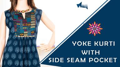 Kurti/Dress Class 6 - Sleeveless Yoke Kurti / Dress