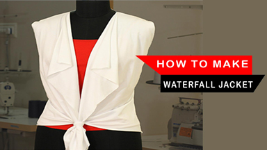 How to make waterfall jacket