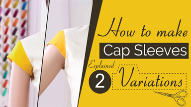 How to make cap sleeves and petal or tulips sleeves.