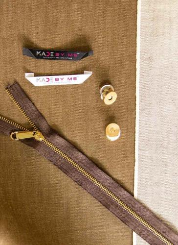 Denim Handbag Making kit - Brown