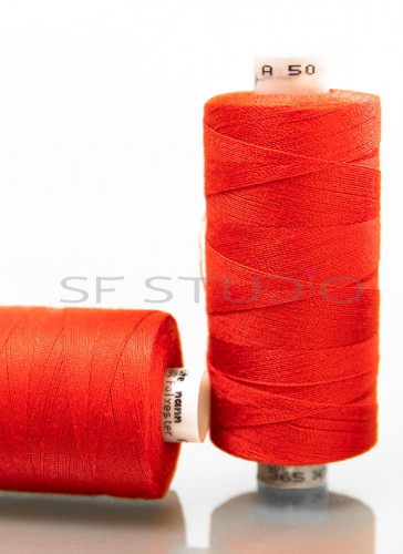Red Denim sewing thread Guetermann TKT 50 AND 80 - 2 Spools