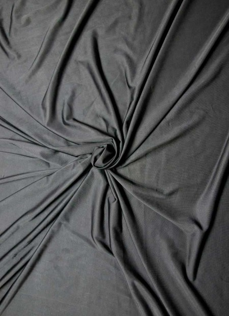 Knit/Stretchy Black Jersey Fabric - 1mtr