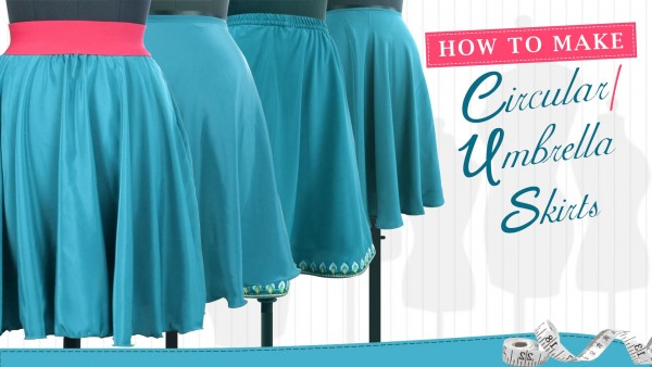 How to make Circular/Umbrella skirts - 1/4,1/2,3/4 & Full Circle