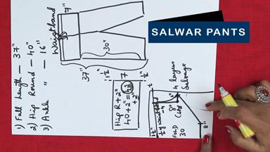 How to make salwar pants