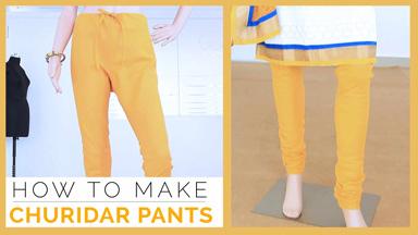 How to make Churidar pants