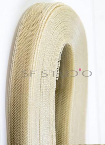 Horsehair Braid Golden Beige 1 Inch width - 48 mtr