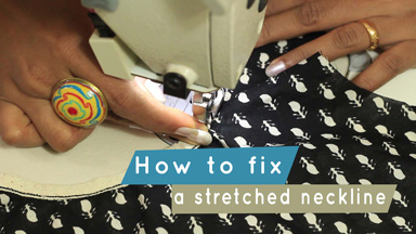 How to fix stretched neckline