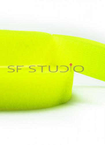 Hook & Loop Fastener Tape 20mm wide - 1mtr Neon Yellow