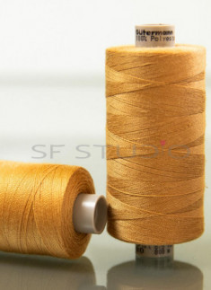 Brown TKT 50 AND 80 Denim sewing thread Gutermann - 2 Spools