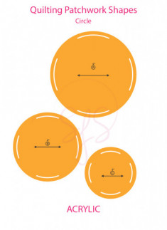 Quilting Circle Template - Set of 3