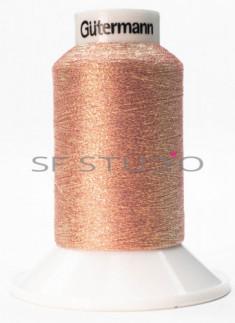 Lurex® 1000 mtrs Fine Twist Embroidery Thread shiny Peach