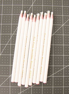 12 Heat Erasable Wax pencil for Fabric Marking