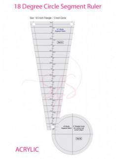 Circle Segment Ruler with 18 Degree Wedge