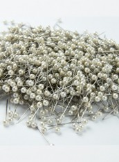 White Pearl head pins SS Good quality - 1000 nos